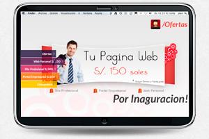 Ofertas Paginas web a 150 soles