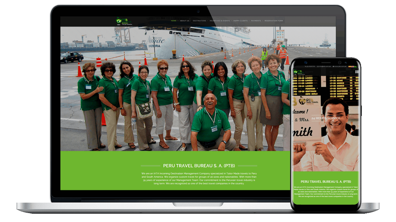 Diseño Web Empresarial PERU TRAVEL BUREAU