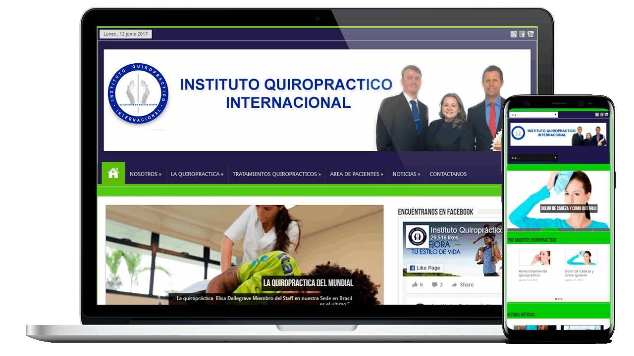 Diseño Web Empresarial Instituto Quiropráctico Internacional