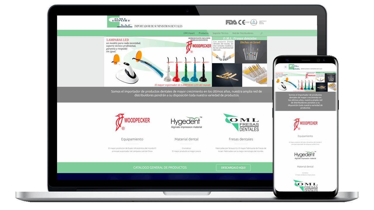 Diseño Web Empresarial OML Import
