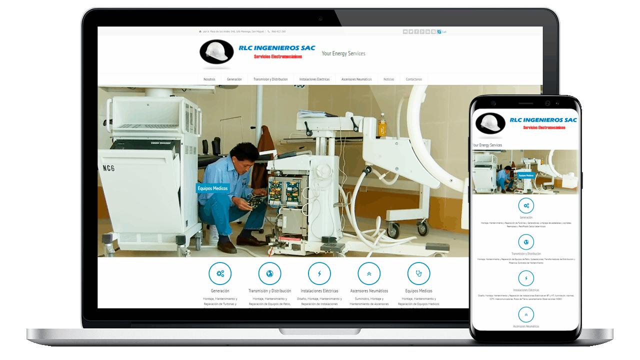 Diseño Web Empresarial RLC Ingenieros