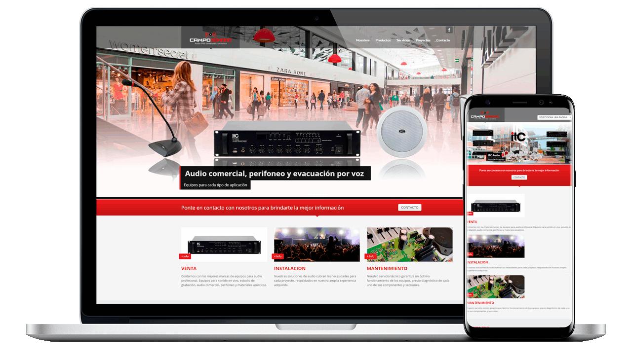 Diseño Web Empresarial de Campo Sonoro