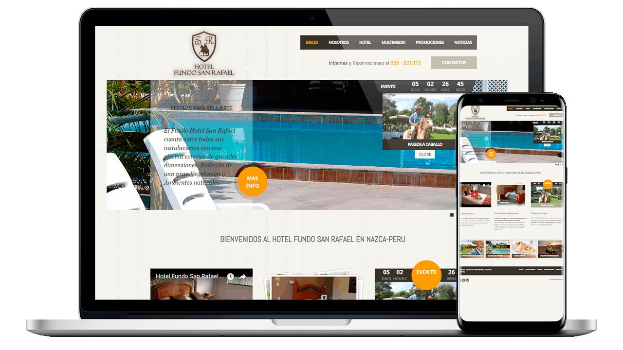 diseño web Hotel fundo san rafael