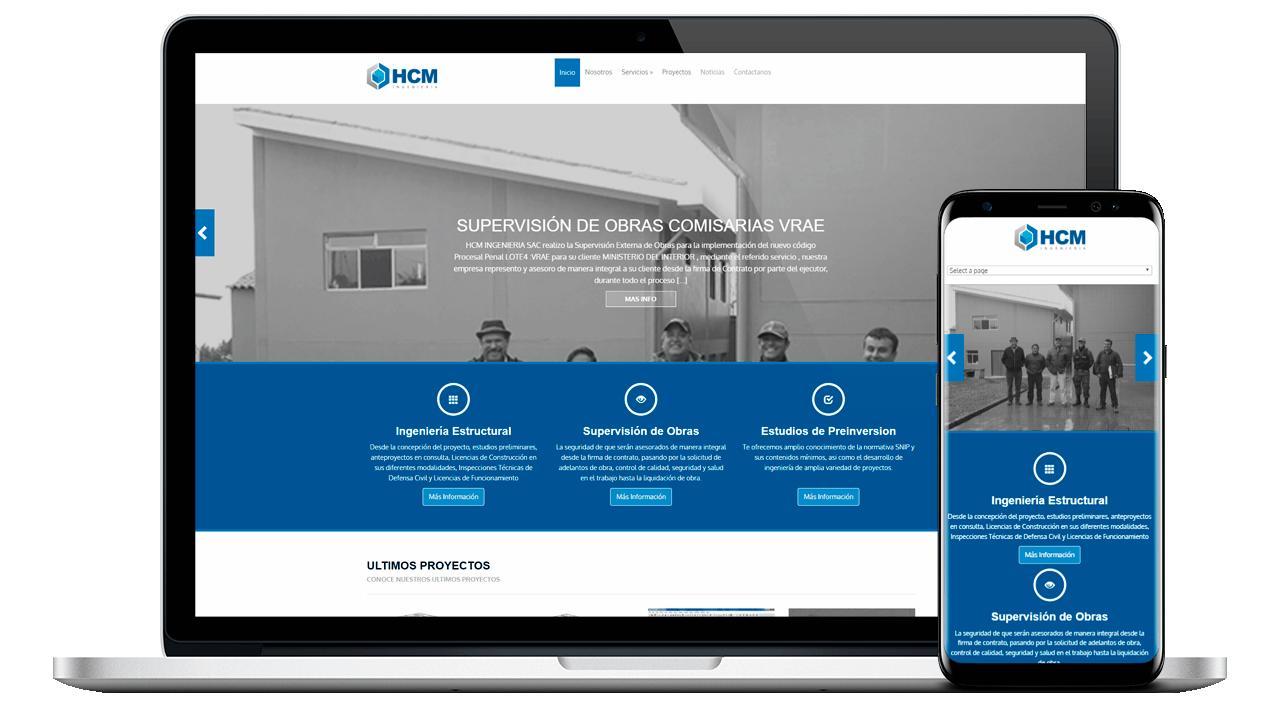 Diseño Web Profesional para HCM Ingenieria