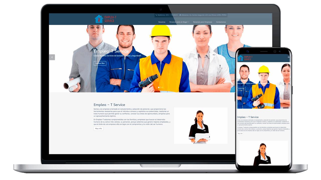 Creamos el  Diseño Web Profesional para Emplea – T Service