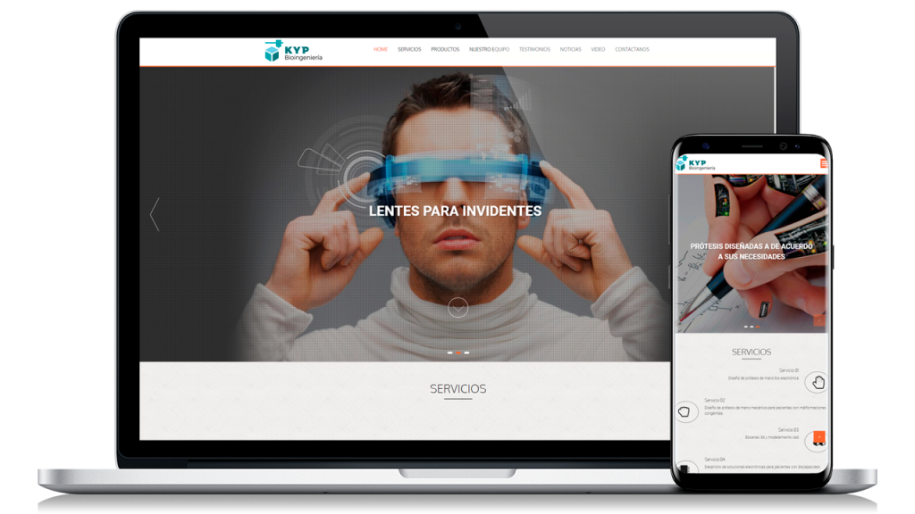 Diseño Web Profesional para KyP Bioingenieria