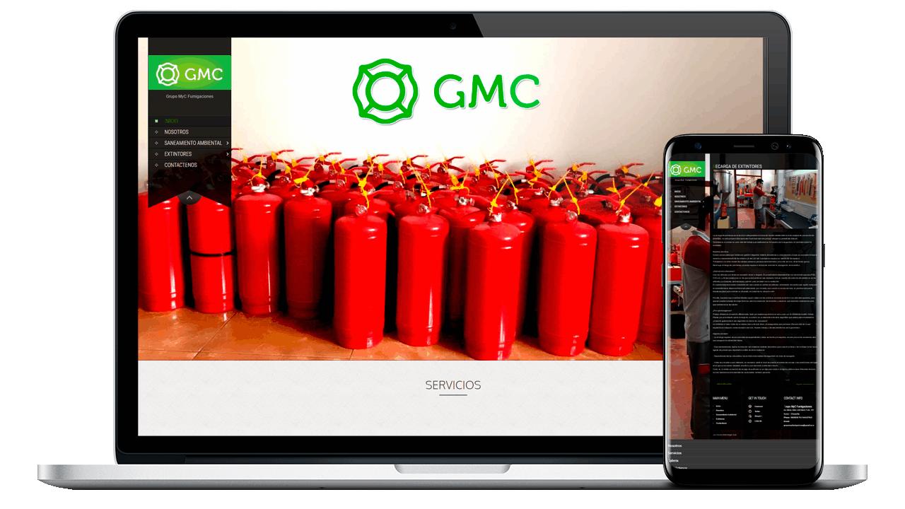 diseño web Profesional para Grupo MyC Fumigaciones
