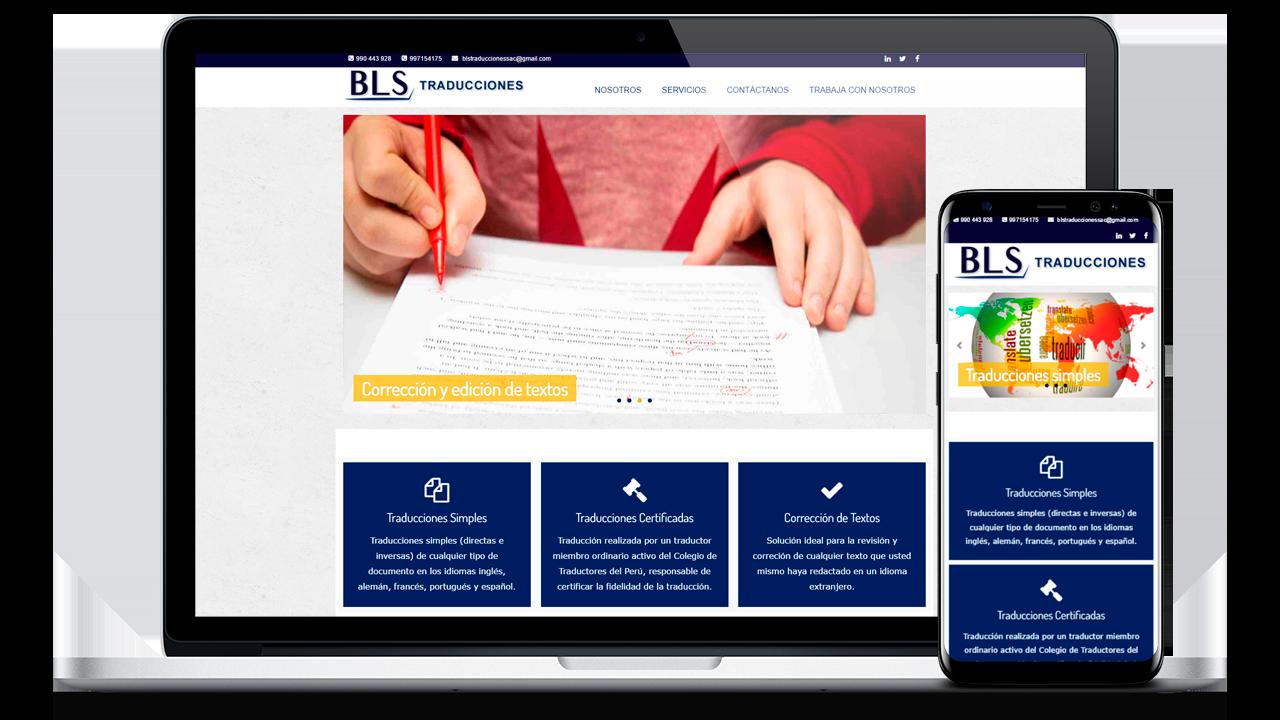 diseño web Profesional para BLS Traducciones