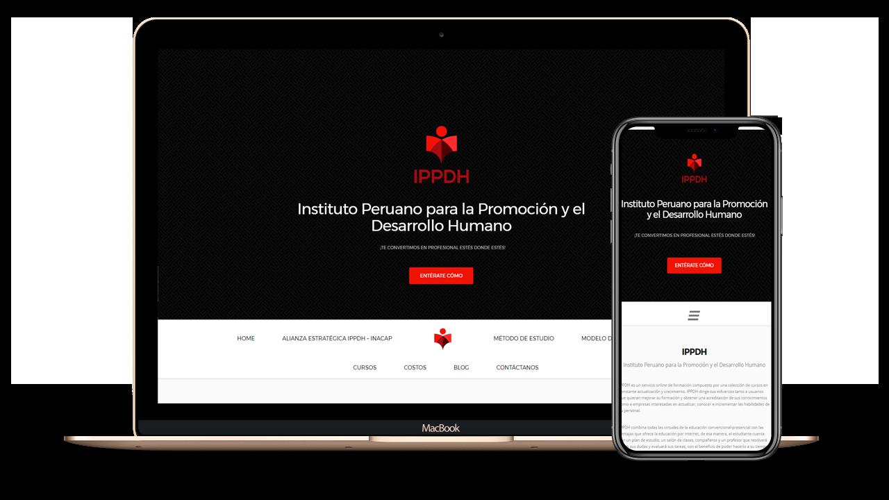 Diseño web Empresarial para IPPDH