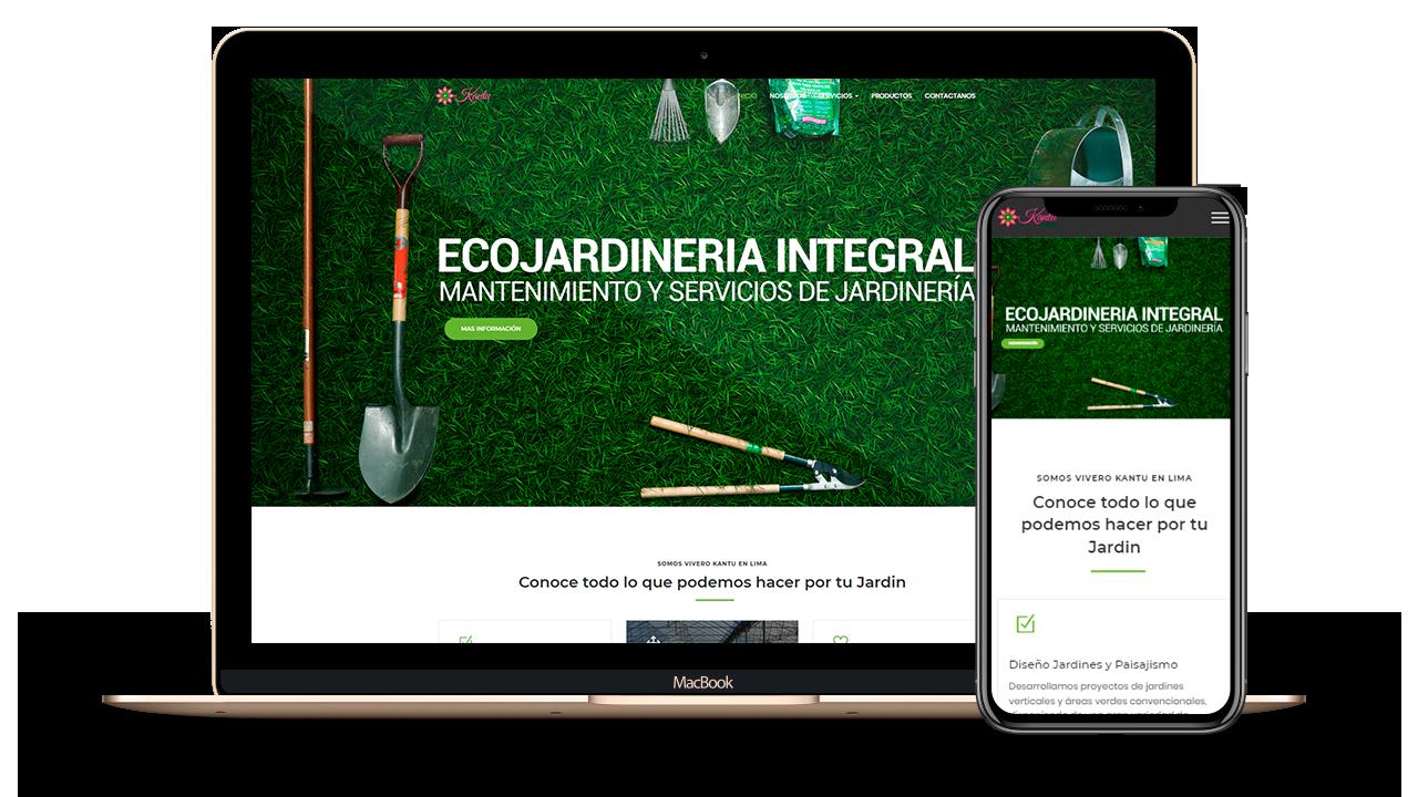 Diseño Web Empresarial para Vivero Kantu