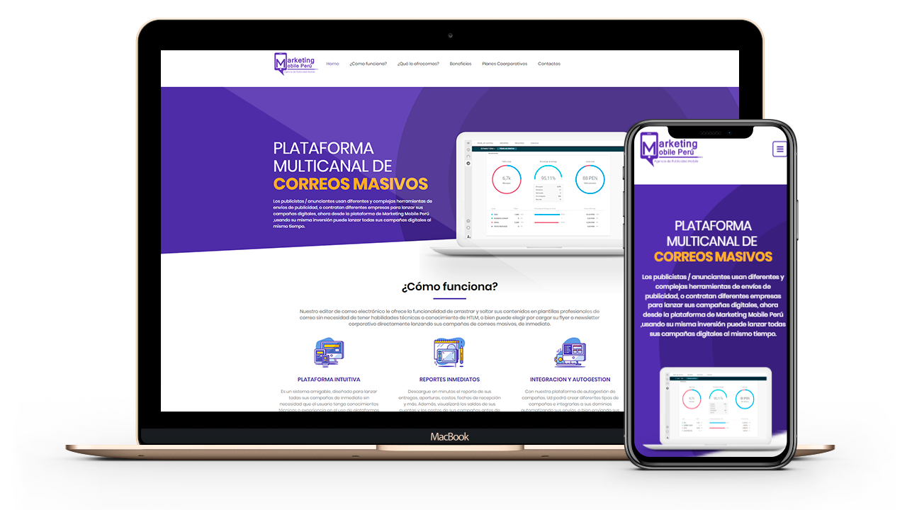 Diseño Web Empresarial para Whatsappmasivos
